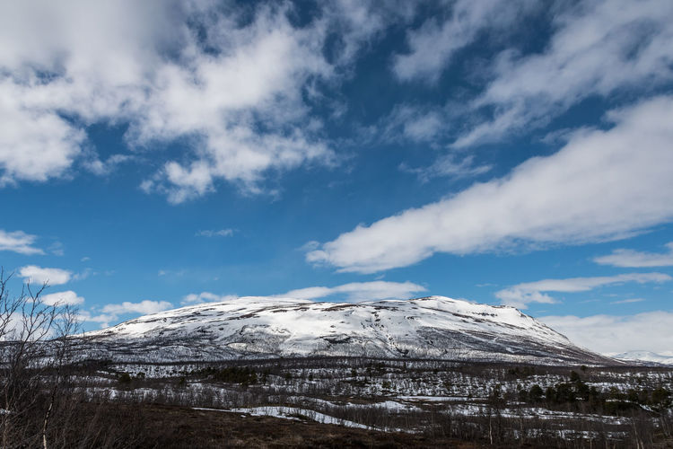 Mountains Abisko 7 Abisko Beauty In Nature Cloud - Sky Cold Temperature Day Landscape Mountain Mountain Range Nature No People Outdoors Scenics Sky Snow Snowcapped Mountain Sweden Tranquil Scene Tranquility Winter