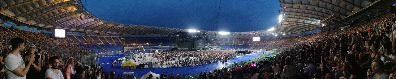 Tiziano Ferro Tour 2017 Stadio Olimpico 30/Giugno/2017 Stadium Night Illuminated Arts Culture And Entertainment Large Group Of People Indoors  Architecture Ice Rink Match - Sport Crowd People Audience Popular Music Concert Adult Music Musica Concerto Panoramic Photography Panorámica