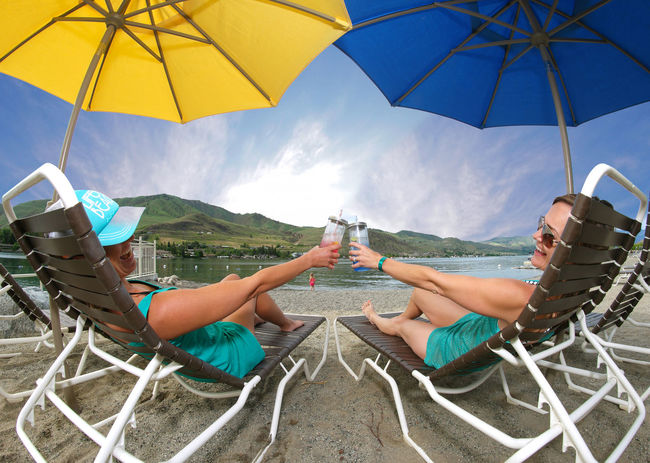 Cheers to this summer's future memories. Two People Women Togetherness Friendship Cheerful Happiness Lifestyles Smiling Bonding Beauty Outdoors Water Adults Only Refreshment Leisure Activity Summer Summertime Vacations Lake Beach Cheers Cocktails Cocktail Beverages Vacation Live For The Story BYOPaper! Mix Yourself A Good Time Done That. Connected By Travel Second Acts Be. Ready. An Eye For Travel Summer Exploratorium