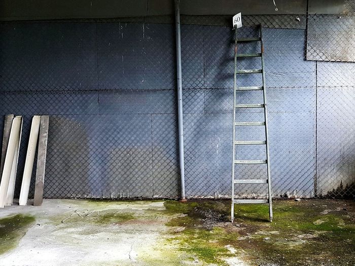 Grunge Wall Abandoned Places Abandoned Buildings Grunge Texture Old Ladder Blue Texture Architecture Built Structure