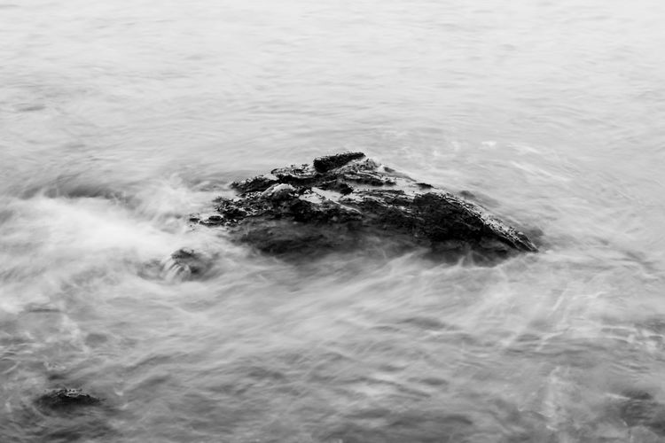 Sea wave and Rock. Beauty In Nature Black Black & White Black And White Black And White Photography Blackandwhite Blackandwhite Photography Close-up Day Monochrome Nature No People Outdoors Rock Rock - Object Sea Water Wave