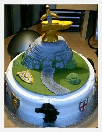 Totally Worth It My Sons Birthday Cake Made By Me Sword In The Stone