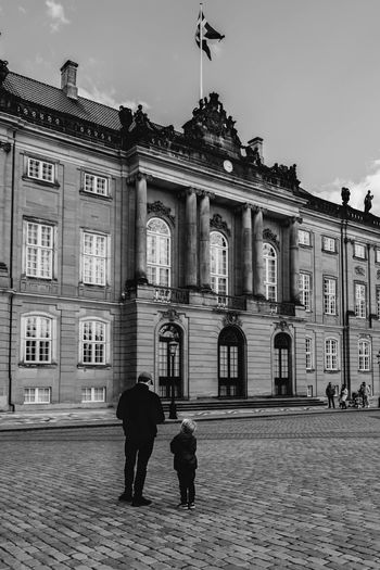 Travel Travel Photography Adult Architecture Blackandwhite Building Building Exterior Built Structure City Copenhagen Day Father Father & Son Father And Son Kid Lifestyles Men Outdoors People Real People Sky Street Travel Destinations Two People Walking EyeEmNewHere
