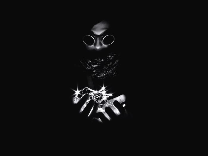 Xmas is coming Black Background Studio Shot Eyeglasses  Darkroom One Person Day Monochrome Photography Dark Black And White Nightlife Solitude