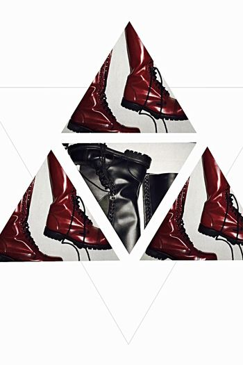 White Background Montage Collage ArtWork Stonegraphix No People Fashion Lausanne Anfibi Boots Doc Martens Red And Black Rosso E Nero Rouge Et Noir Triangle Discover Berlin EyeEmNewHere