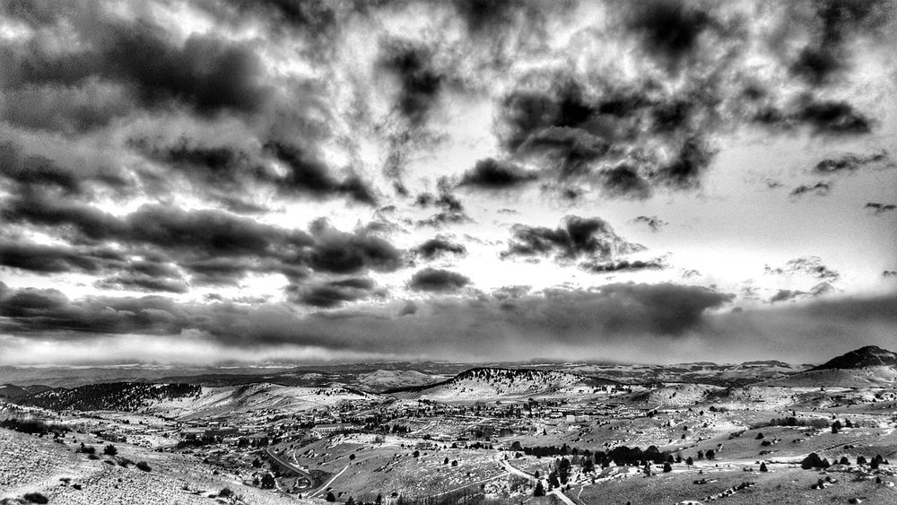 Clouds Clouds And Sky B&w Photography Snow Landscape_Collection Landscape_photography Sunset_collection Sunset Contrast Drivebyphotography Mountains Perspective From My Point Of View Above Cripple Creek Colorado Winter DECEMBER2015 Mobilephotography Samsung Galaxy S6 Edge Samsungphotography EyeEm Best Shots EyeEm Best Shots - Black + White Black And White Monochrome