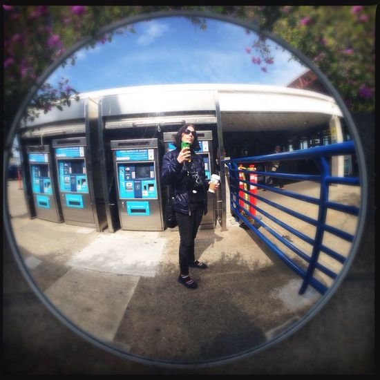 Taking Photos Being A Tourist Convex Mirror Selfie