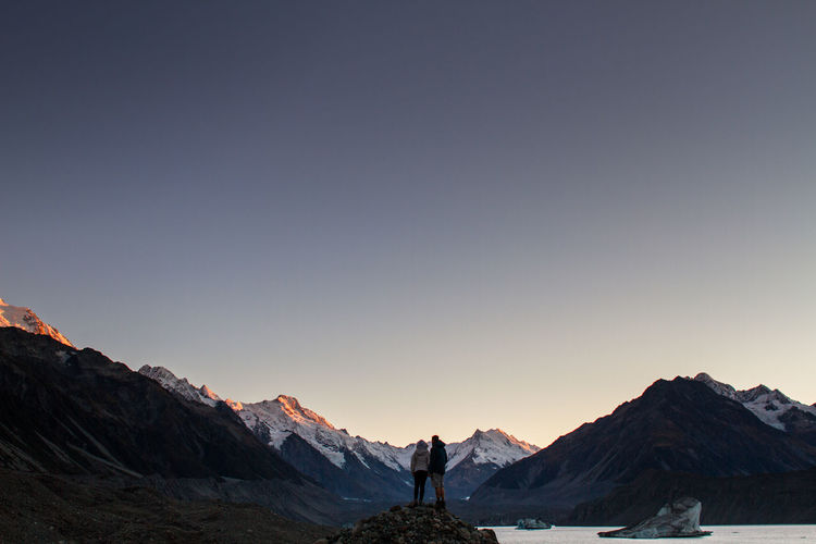 Waiting for the sunrise at the Tasman Glacier Lake. Adventure Icebergs Lake Landscape Mountain Mountains Mt Cook Outdoors People