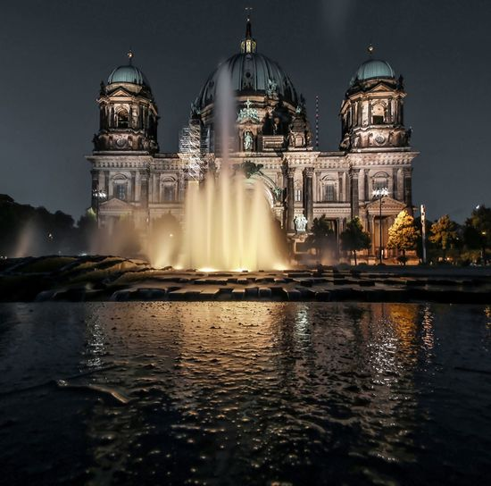 EyeEm Selects Discover Berlin Night Architecture Illuminated The Week On EyeEm EyeEmNewHere Reflection Berliner Dom Berlin Mitte Cityscape Photography Berlin, Germany  Long Exposure Berliner Ansichten Berlin Travel Destinations Tourism Dome Building Exterior Connected By Travel HUAWEI Photo Award: After Dark