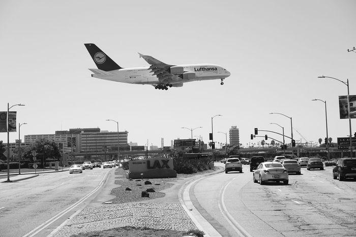 Touchdown LAX Airport Airplane Los Angeles, California Los Angeles International Airport