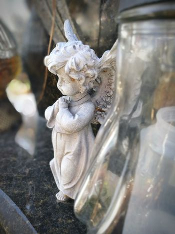 Reflection Remember Monochrome monochrome photography Monochromatic Cementary Heritage Angel Little Little Angel Sculpture Memory All Saints Day EyeEm Selects Close-up