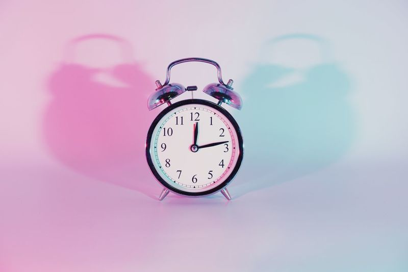 Remember to set your clock back! Or something Clock Time Alarm Clock Clock Face Indoors  Deadline Instrument Of Time Number Pink Color Close-up Still Life Studio Shot No People Copy Space Single Object Shape