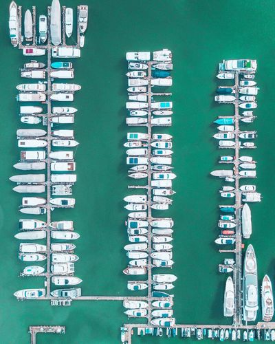 Aerial Shot Of Harbor