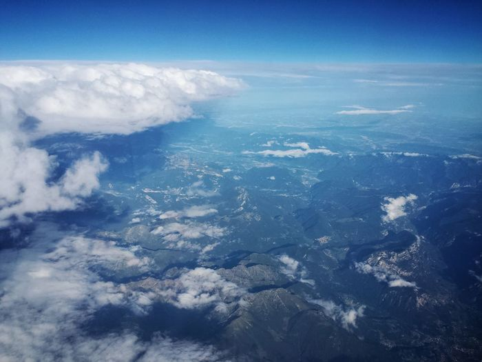 Aerial View Cloud - Sky Blue Nature Planet Earth Landscape Outdoors Sky Travel Airplane No People Scenics Flying Water Beauty In Nature City Canon Powershot über Den Wolken Canon Powershot SX200 IS Snow Vacations Travel Destinations Art Is Everywhere Beauty In Nature