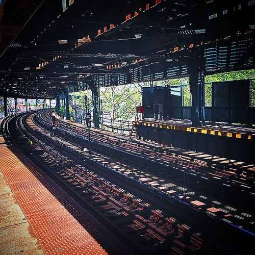 🚊Trax. Mta Tracks Coneyisland Ftrain Brooklyn NYC NYCAboveGround Shadows WHPstrangelight