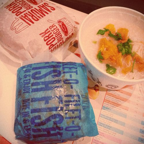 Breakfast Burger Rice Porridge Best Burger In Town