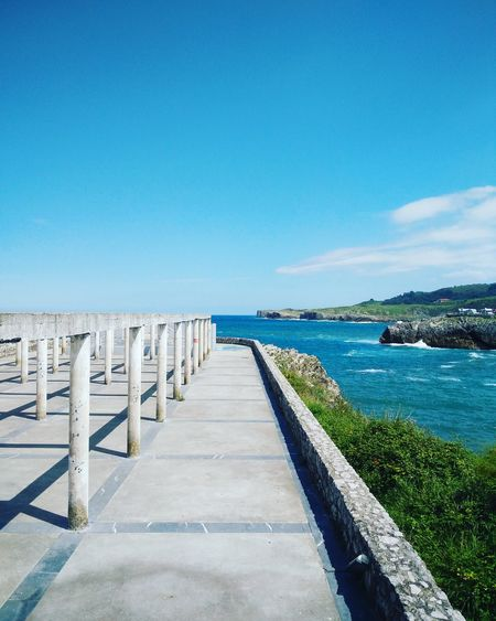 EyeEm Selects Llanes Asturias Cantábrico SPAIN Summer Landscape Sea Pier Blue Water Sunny Sky Clear Sky Horizon Over Water No People Scenics Outdoors Beauty In Nature