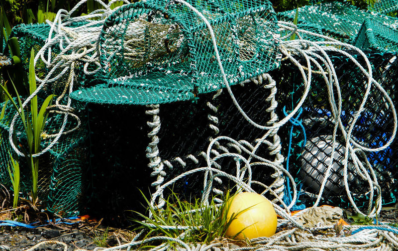 Crab Pots Day Fishing Gear Fishing Tackle Harbour Side Isle Of Skye Lobster Pots No People Outdoors Scotland Stein Stein Jetty