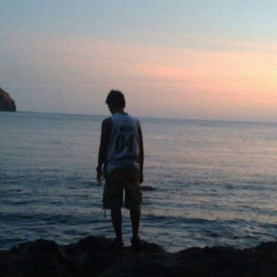 Thinking. Travel Globalnomads Anawangin Philippines gf_philippines sunset scenicsunset beach nofilter