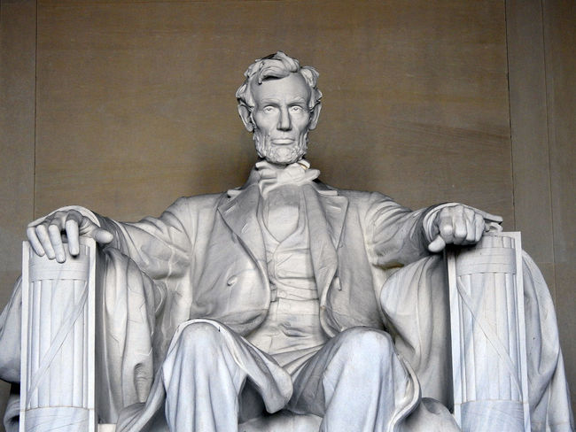 Abraham Lincoln at the Lincoln Memorial in Washington, DC. Presidents American History Abraham Lincoln Statue Lincoln Memorial, Washington DC Patriotism Close-up Day History Human Representation Indoors  Male Likeness Memorial No People Sculpture Statue