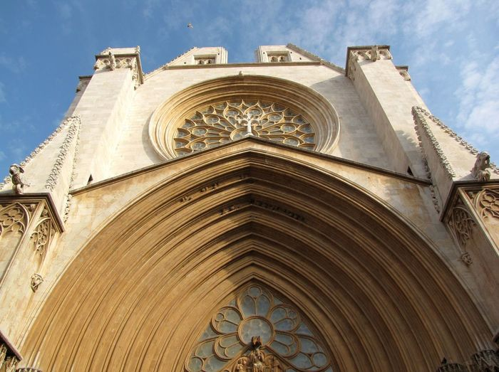 Low Angle View Of Tarragona Cathedral Against Sky