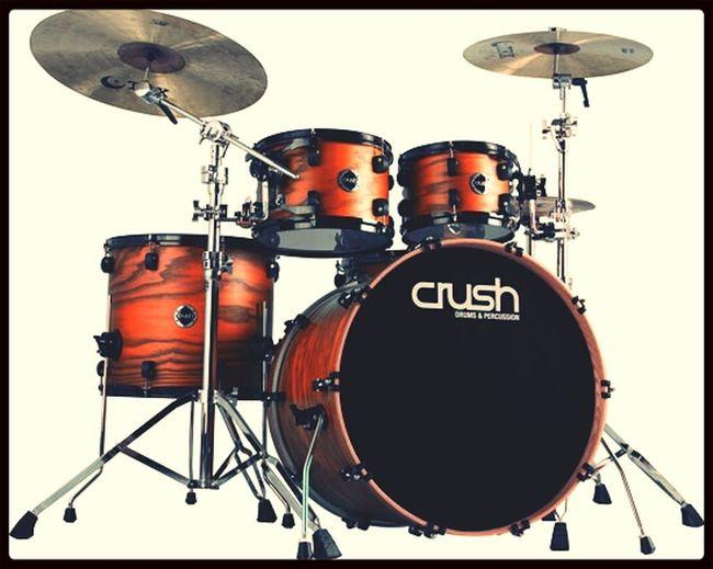 Crush Chameleon Ash drum kit Drums Music Orange Ashwood
