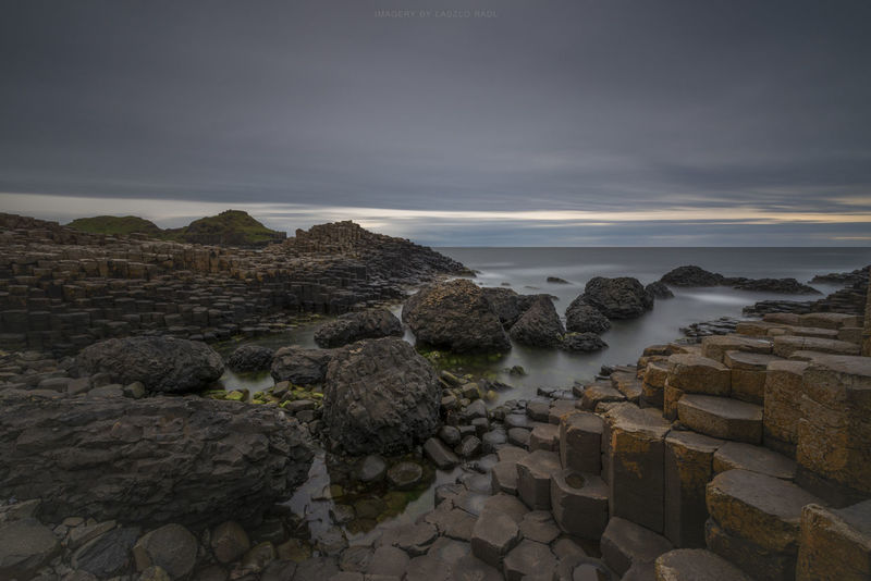 Beauty In Nature Evening Giants Causeway Ireland Nature Ocean Sea Seaside Sunset Tranquility