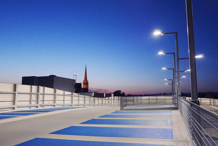 The blue hour. Norwich Norwichcathedral Car Park Blue Hour Nightphotography Sunset New Architecture Multi Storey Car Park Modern Architecture Modern City Bluehour Evening Sky Evening Light Architecture Parking Urban Nights