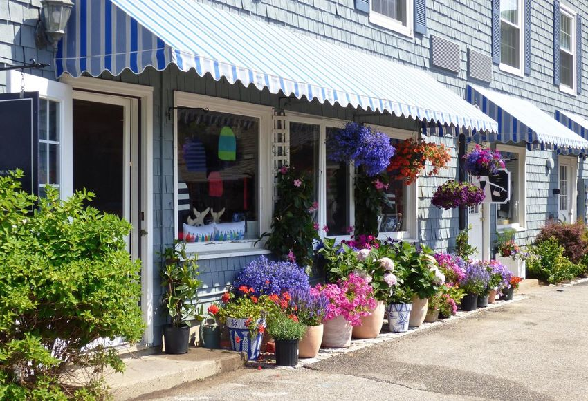Colorful Shops Architecture Building Building Exterior Built Structure City City Life Colorful Day Flower Growth Maine Multi Colored No People Outdoors Plant Residential Building Residential Structure Shops Store Summer ☀