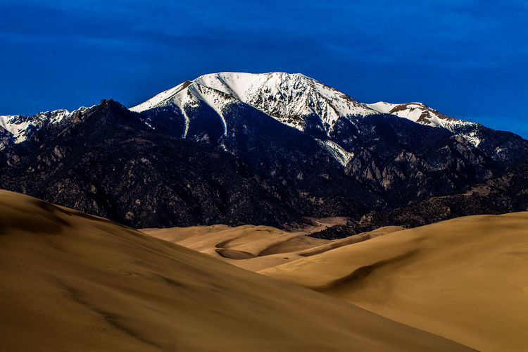 Beauty In Nature Day Desert Landscape Mountain Mountain Range Nature Outdoors Sand Dunes Scenics Sunlight Tranquil Scene Tranquility