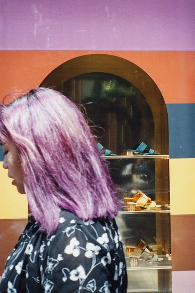 Streetphotography Street Photography Tokyo Street Photography Film Fashion 35mm Film Photography Pink Color Colors Contax