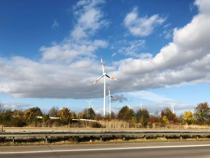 Sky Cloud - Sky Nature Transportation Road Day No People Turbine Wind Turbine Renewable Energy Environmental Conservation Alternative Energy Wind Power Environment First Eyeem Photo