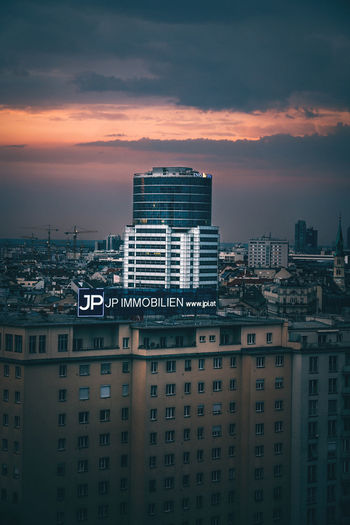 EyeEmNewHere EyeEm Gallery Sonyalpha Moody Sky Wien Tones Mood VSCO Urban Skyline Urban Rooftop View Urbexphotography EyeEm Selects EyeEm Best Edits City Cityscape Urban Skyline Skyscraper Modern Sunset Downtown District Aerial View Business Finance And Industry City Life Office Building