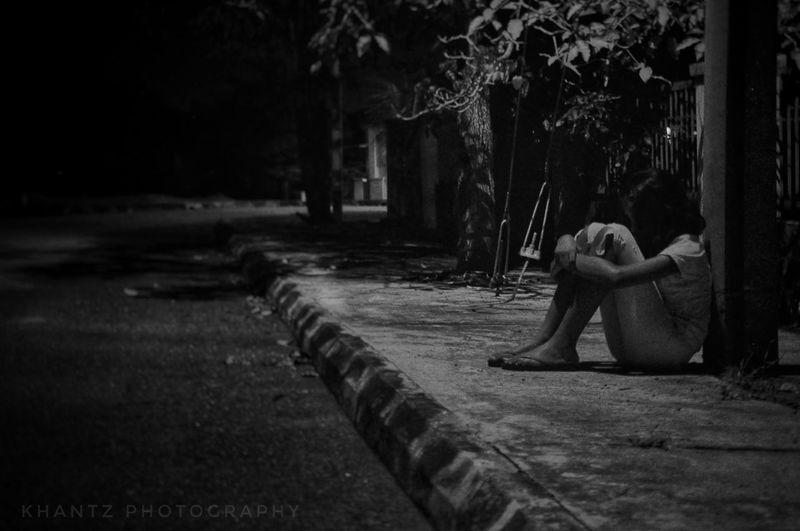 Alone. The