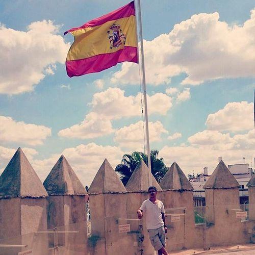 España SPAIN Erasmus Sun me tower lunes monday flag clouds