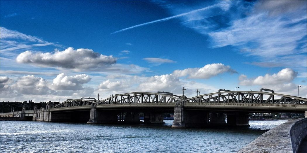 EyeEm Selects Bridge - Man Made Structure Connection Sky Built Structure Architecture River Cloud - Sky Blue Outdoors Day Water No People Rochester Bridge Kent BYOPaper! Let's Go. Together. Amazing Places Todays Hot Look. Live For The Story Sommergefühle Travel Destinations