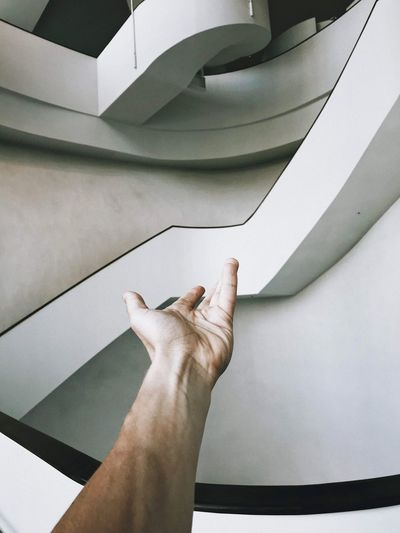 Minimal Human Body Part Human Hand Hand Indoors  Personal Perspective One Person High Angle View Real People Adult Staircase Body Part Lifestyles Leisure Activity Steps And Staircases Men Home Interior Wall - Building Feature Unrecognizable Person Close-up Finger My Best Photo My Best Photo
