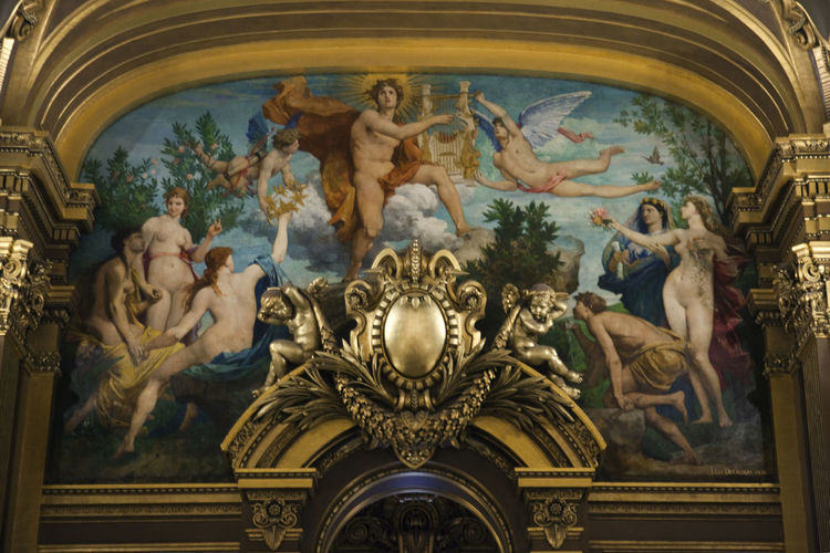 Art Cultures Design France Garnier Indoors  Ornate Paris Theater Ópera De Paris