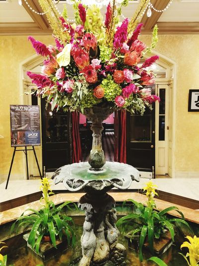 Lobby Hotel Lobby Flower Fountain Luxury Hotel Vase Indoors  Old-fashioned Vacations No People Architecture Freshness Burbon Street Hello World! Neworleans Neworleans La Potted Plant Plant Indoors  Photographing