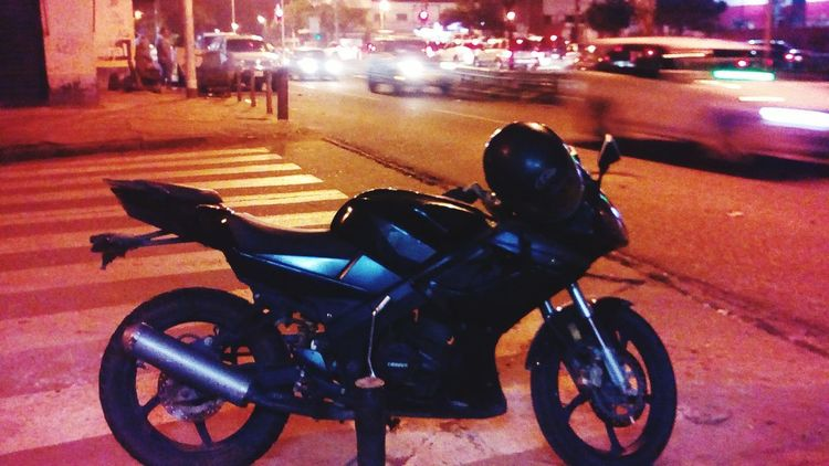 Night Motorcycle Street Transportation Outdoors Land Vehicle Mode Of Transport Car City Road Illuminated