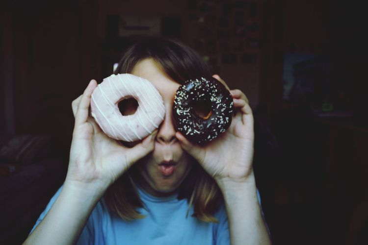 Enjoying Life Hello World Hi! That's Me Girl Cute Donuts