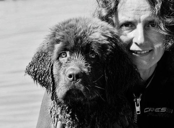 EyeEm Selects Nature Watersport Cressi Wetsuit Portrait Outdoors Pets Switzerland Best Friends Dog Neufundländer Breathing Space EyeEmNewHere