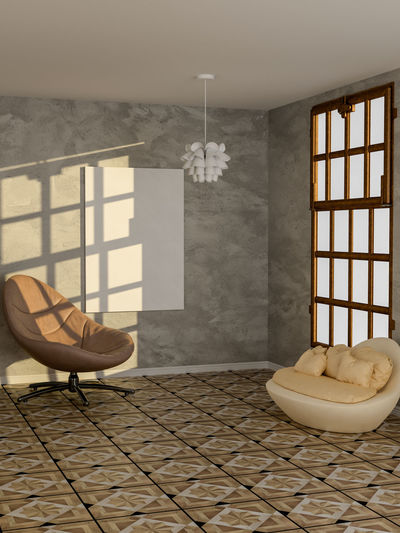 Poster in living room Indoors  Window Architecture Home Interior Domestic Room Day Flooring Furniture Built Structure Lifestyles No People Relaxation Building Nature Absence Chair Lighting Equipment Wall - Building Feature Electric Lamp Tiled Floor