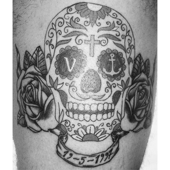 work in progress ❤ Tattoo Tattoos Skull Mexicanskull Ink Inked Grandfather Onlyforyou Besttattoo Tattoosofinstagram Family Love