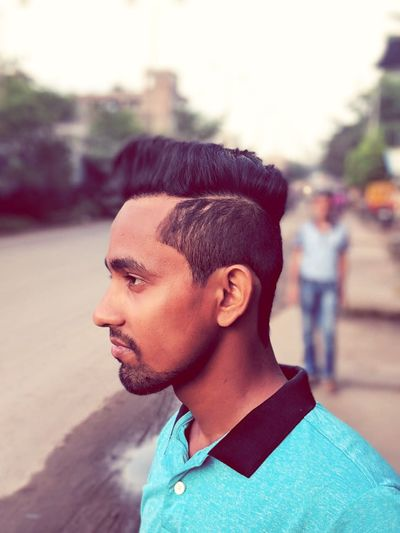 Hair style Headshot One Person Portrait Focus On Foreground Young Adult Looking Away Looking