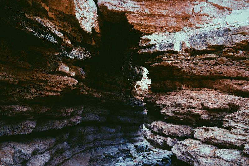 Rock formations on rocks