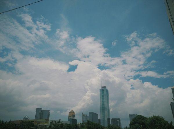 广州 天河区 蓝天白云 Sky