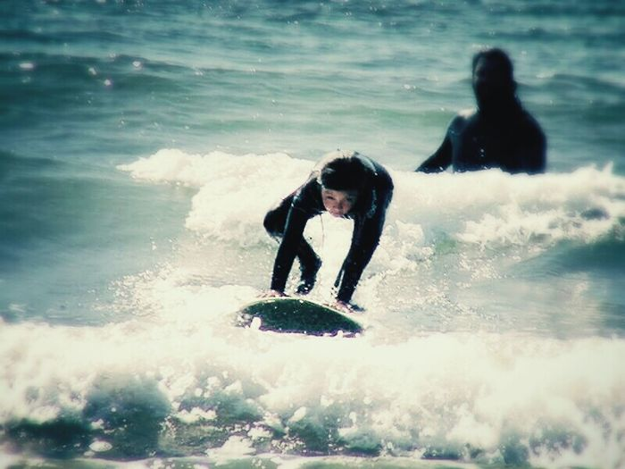 zoe surfing.a whole new world opens up for her. fortbragg Ca. Casper beach. Surf's Up Surfer Girl Ocean Pacific Ocean January Mendocinocounty FortBraggCA Eyeem Northen California Eyeem Children's Portraits Fortbragg