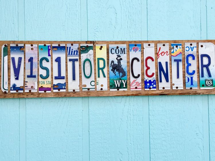 Visitor Center Licenceplates Colorful Licenseplate Turquoise