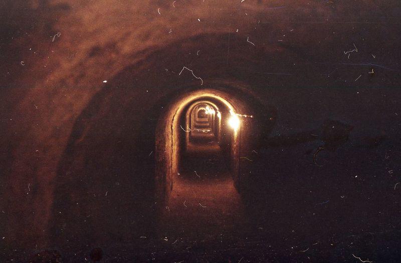 dark corridor Dark Film Light Pentacon 2.8/135mm Underground Fortress Frightening No People
